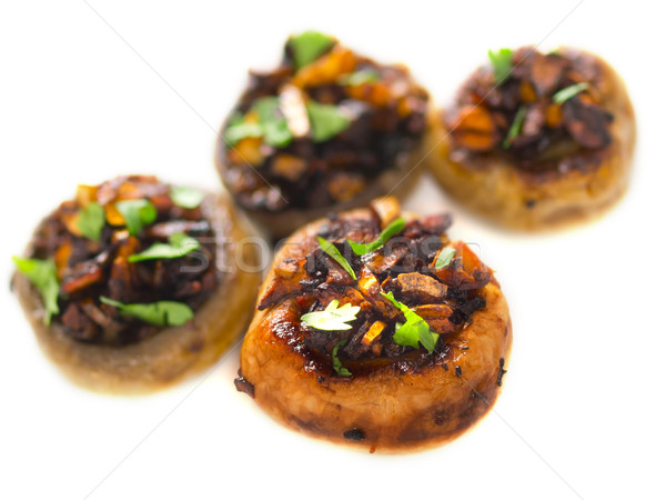 sauteed button mushrooms Stock photo © zkruger