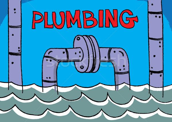 plumbing service Stock photo © zkruger