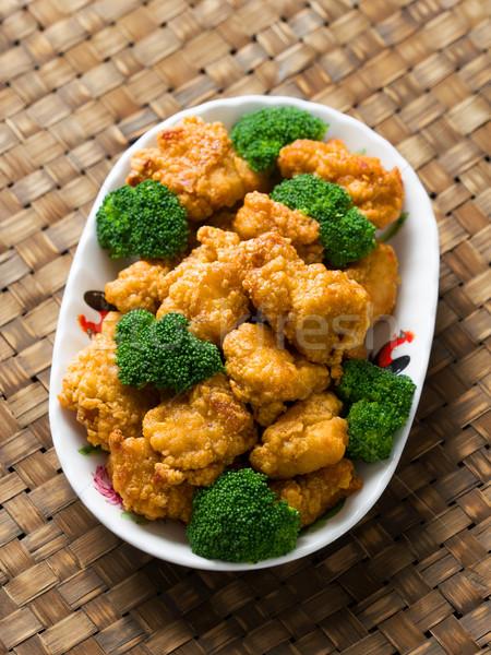 Americano chinês geral frango rústico Foto stock © zkruger