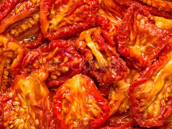Italien soleil tomates séchées alimentaire fond Photo stock © zkruger