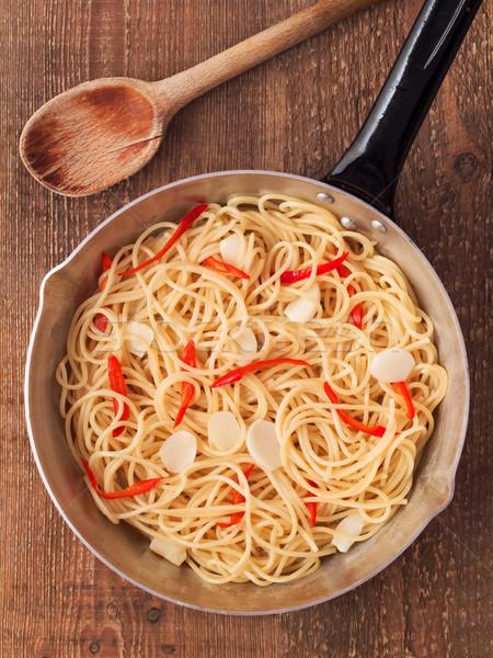 Rustico tradizionale italiana spaghetti pasta Foto d'archivio © zkruger