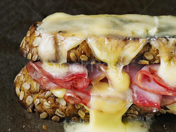rustic french sandwich croque monsieur Stock photo © zkruger