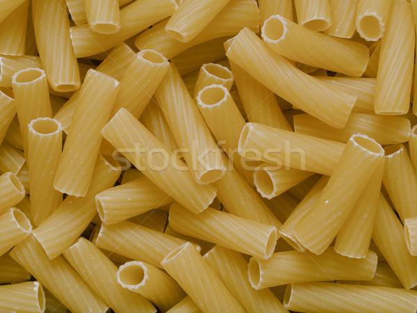 uncooked maccheroni pasta tubes food texture background Stock photo © zkruger