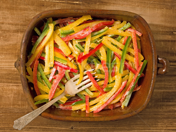 rustic capsicum salad Stock photo © zkruger