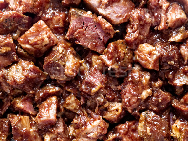 rustic american barbecued pork food background Stock photo © zkruger