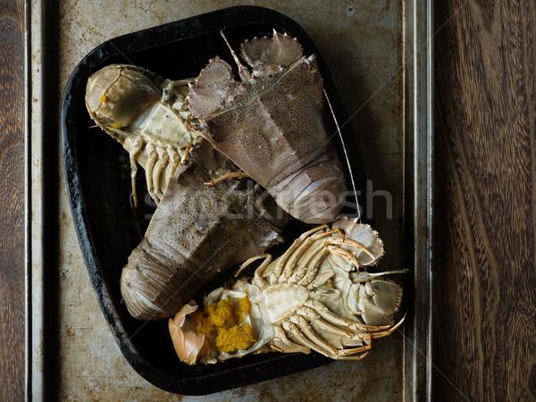 Rustiek bugs schelpdier voedsel kreeft Stockfoto © zkruger