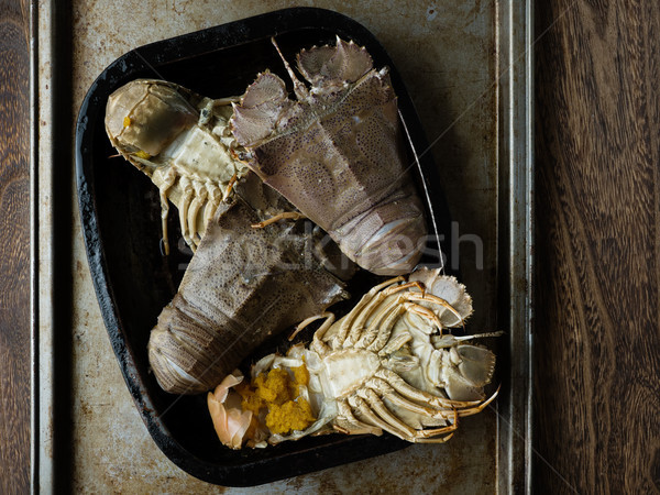 rustic uncooked moreton bay bugs shellfish Stock photo © zkruger