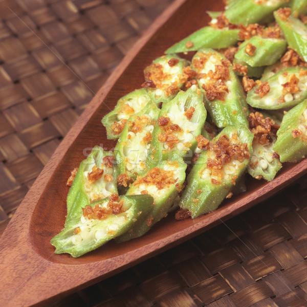 okra in garlic sauce Stock photo © zkruger