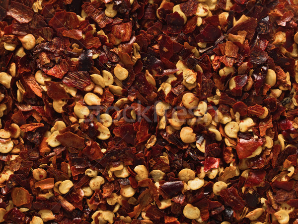 Stock photo: dried red chili flake food background