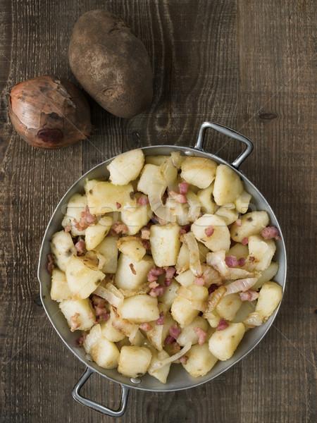 素朴な パン フライド ジャガイモ 色 ストックフォト © zkruger