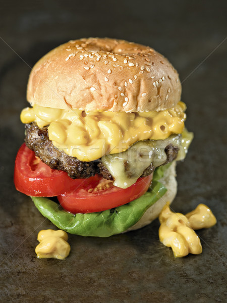 rustic american mac and cheese hamburger Stock photo © zkruger