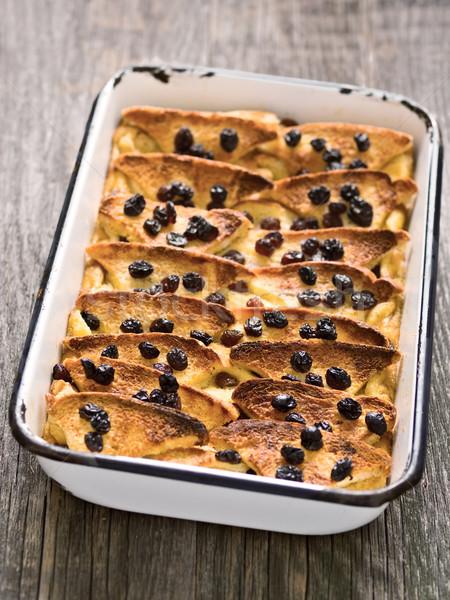 Rusztikus hagyományos brit kenyér vaj puding Stock fotó © zkruger