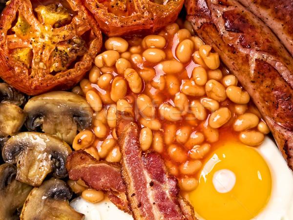 Tele angol reggeli étel közelkép tojások Stock fotó © zkruger