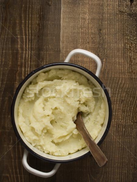 Stock photo: pot of rustic mash potato
