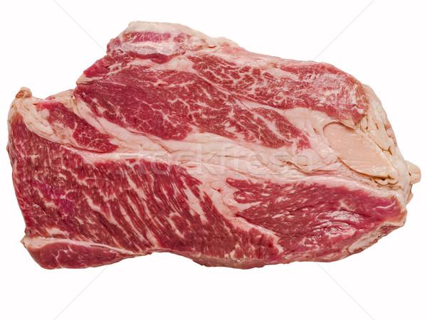 uncooked wagyu beef steak isolated Stock photo © zkruger