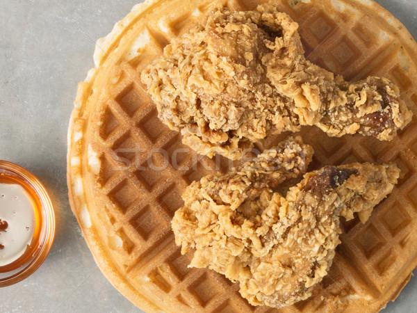 Rústico americano conforto comida frango Foto stock © zkruger