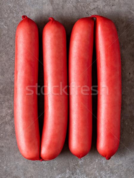 rustic english saveloy red pork sausage Stock photo © zkruger