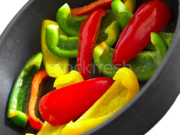 stir fried bell peppers Stock photo © zkruger
