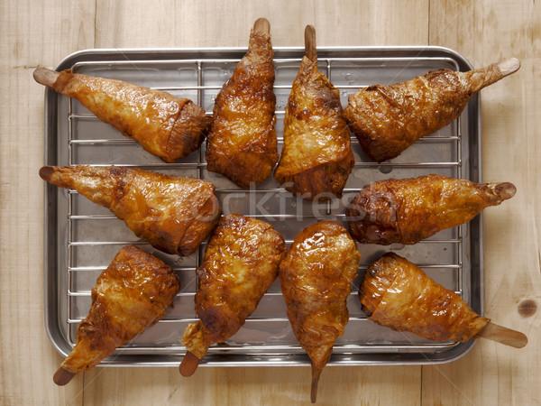 vegetarian mock chicken drumsticks Stock photo © zkruger