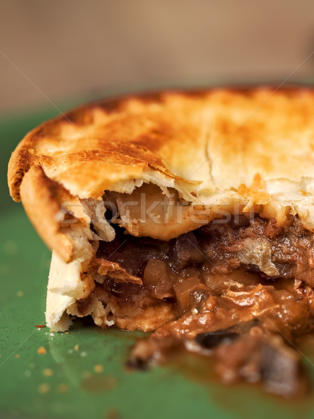 rustic meat and mushroom pie Stock photo © zkruger