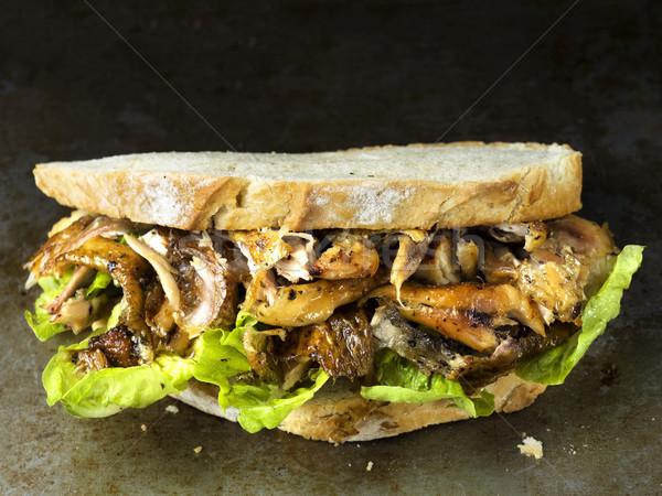 rustic roast chicken sandwich blur defocused Stock photo © zkruger