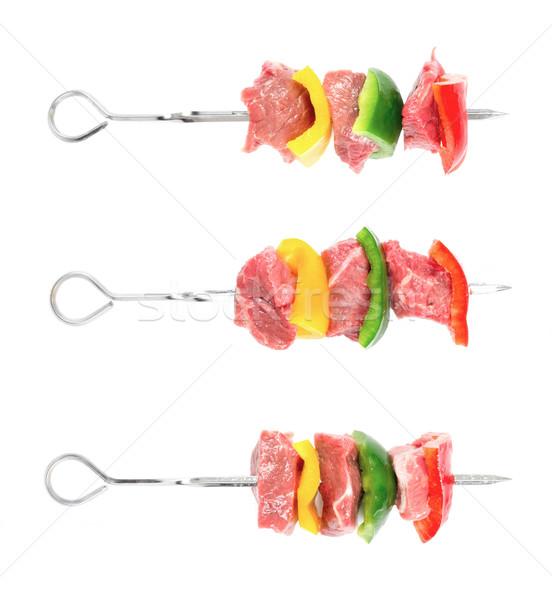 Rundvlees vlees kleur grill chili Stockfoto © zkruger