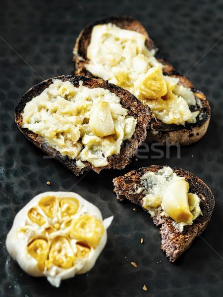 Rustik aromatik sarımsak reçel tost Stok fotoğraf © zkruger