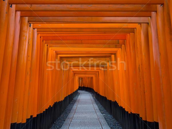 Santuario kyoto japanese shinto religione luminoso Foto d'archivio © zkruger