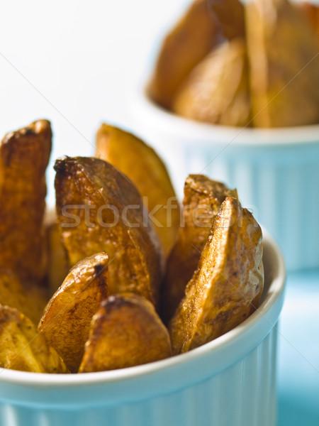 Aardappel voedsel vinger dieet macro Stockfoto © zkruger