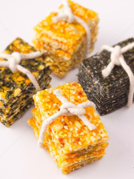 ázsiai szezám kekszek közelkép szín kínai Stock fotó © zkruger
