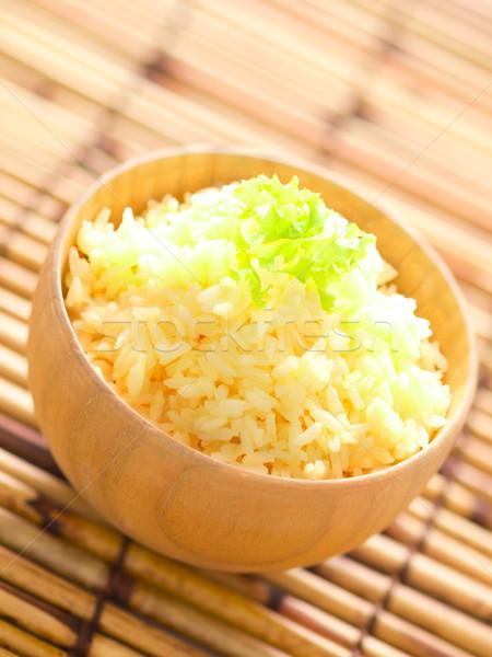 Сток-фото: сырой · яйцо · риса · чаши · Японский