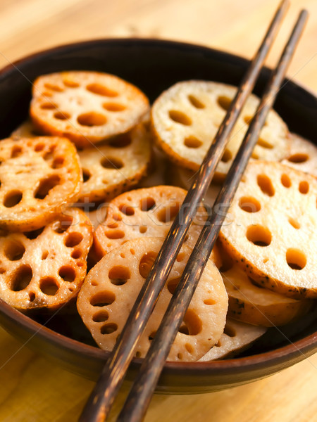 bowl of lotus root Stock photo © zkruger