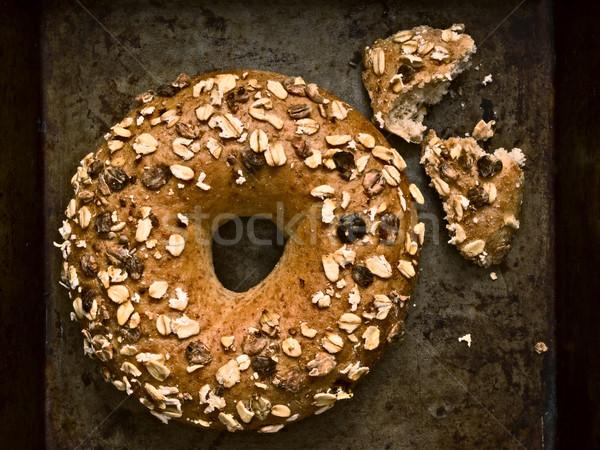 Rustik simit bütün tahıl gıda Stok fotoğraf © zkruger
