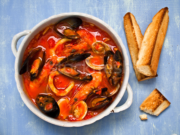 rustic italian seafood soup Stock photo © zkruger