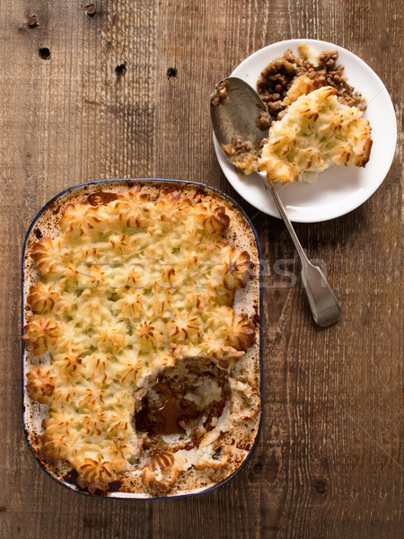rustic traditional british shepard pie Stock photo © zkruger