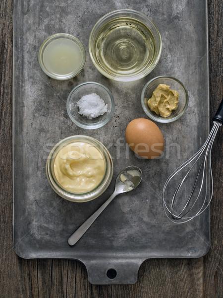 素朴な 自家製 マヨネーズ 成分 食品 ストックフォト © zkruger