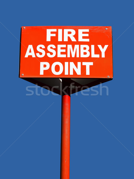 fire assembly point Stock photo © zkruger