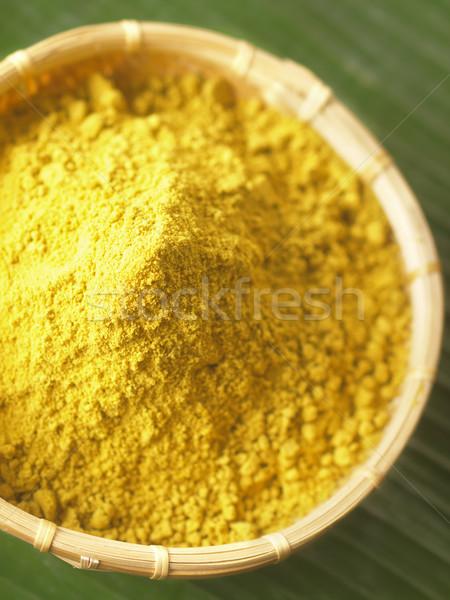 Koriander Farbe asian legen Boden Stock foto © zkruger