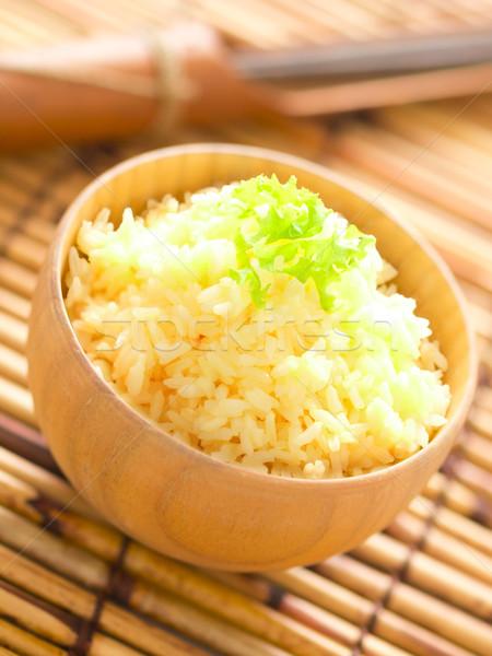Сток-фото: сырой · яйцо · риса · чаши · цвета