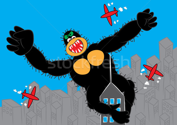 biggest gorilla in the sky business concept Stock photo © zkruger