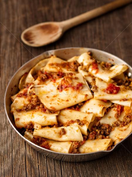 деревенский итальянский пасты соус цвета Сток-фото © zkruger