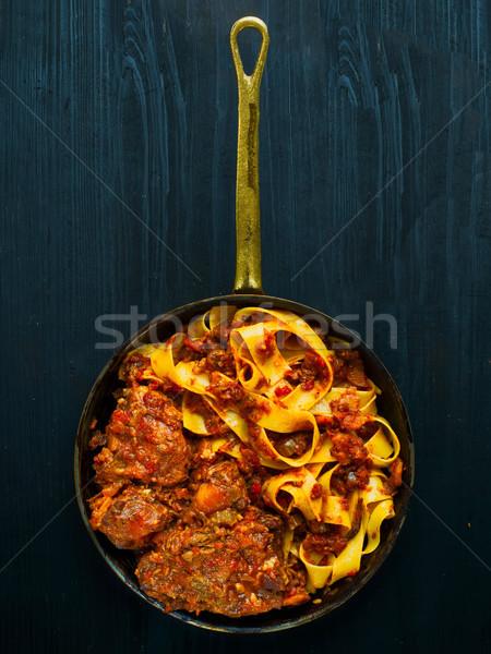 Rustico italiana pasta cuore colore Foto d'archivio © zkruger