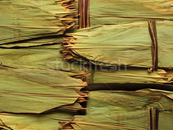 Secado bambú hoja chino carne Foto stock © zkruger