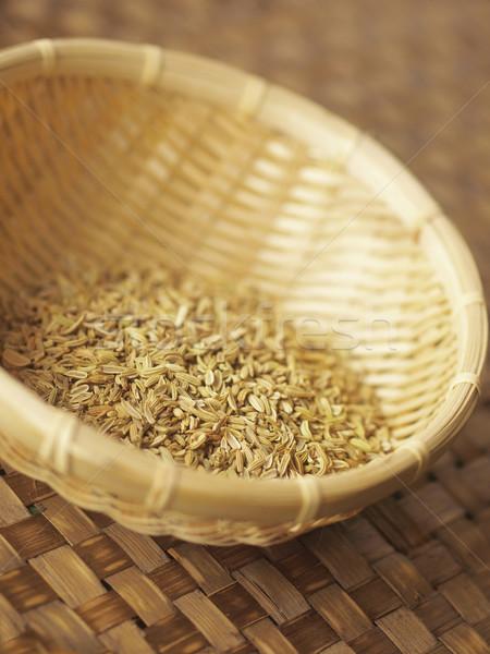 Rezene tohumları sepet gıda makro Stok fotoğraf © zkruger