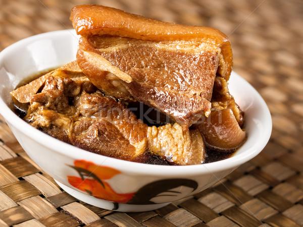 bowl of chinese braised pork Stock photo © zkruger