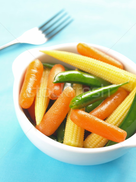 Gemüse Salat Schüssel Essen Baby Stock foto © zkruger