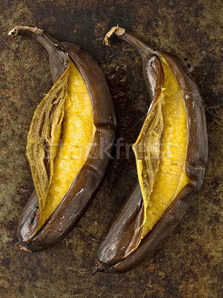 rustic barbecued banana Stock photo © zkruger
