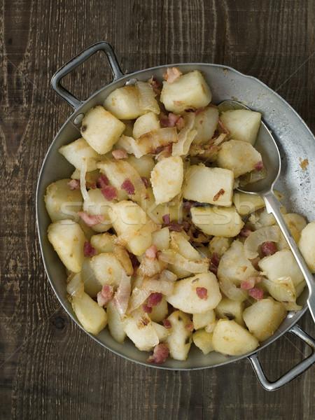 素朴な パン フライド ジャガイモ 中心 ストックフォト © zkruger