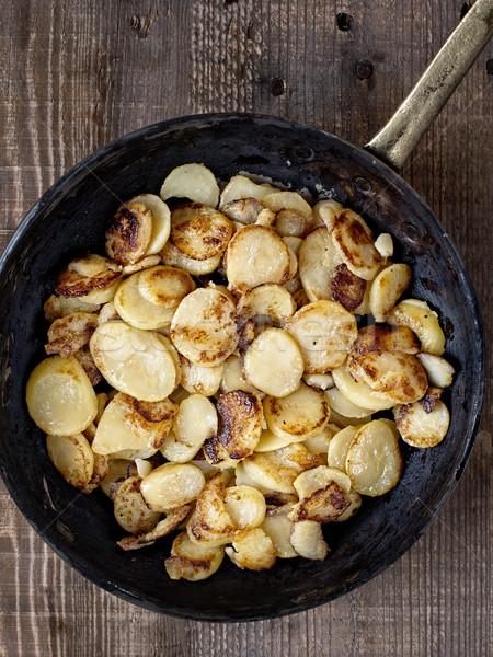 Foto stock: Rústico · frito · patatas · color · grasa