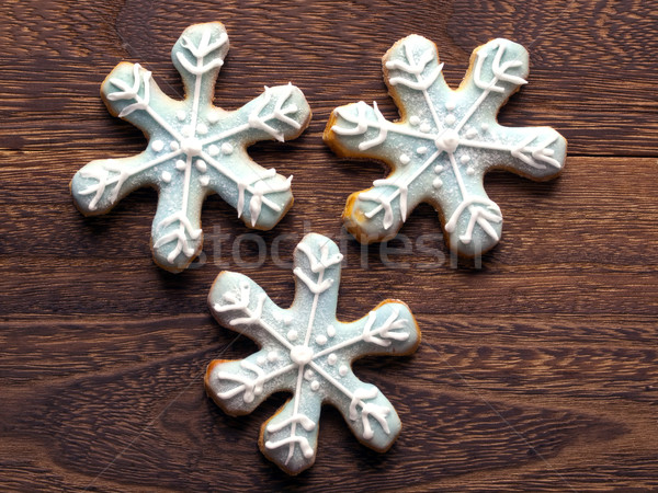 christmas snow flake cookies Stock photo © zkruger